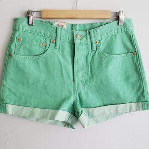 Levis 501 Mid Rise Denim Shorts